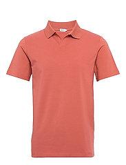 M. Lycra Polo T-Shirt - PINK CEDAR
