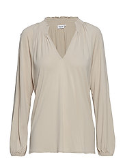 Open Front Smock Blouse