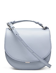 Harley Saddle Leather Bag - ICE BLUE