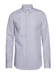 M. James Striped Shirt - BOLD BLUE/