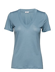 Tencel Deep V-neck Tee