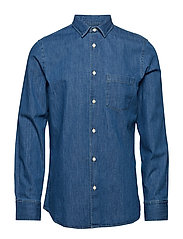 M. Tim Denim Shirt - MID BLUE