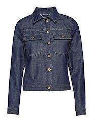 Suzy Raw Denim Jacket - DARK BLUE