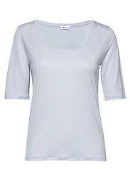 Tencel Scoop-neck Tee - ATLANTIC B