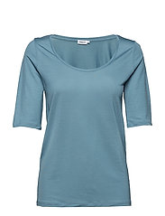Tencel Scoop-neck Tee - KINGFISHER