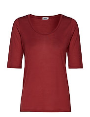 Tencel Scoop-neck Tee - RASPBERRY