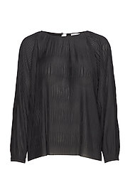 Wave Pliss Blouse - BLACK