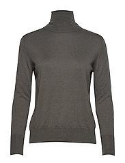 Silk Mix Roller neck Sweater - MINERAL GR