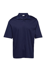 M. Mercerised Polo T-shirt - DEEPWATER