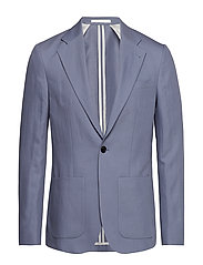 M. Dean Drapey Linen Jacket - BLUESTONE