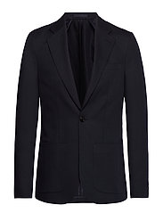 M. Dean Drapey Linen Jacket - DK. NAVY