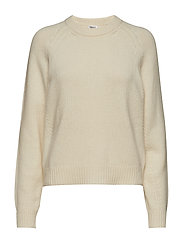 Soft R-Neck Sweater - OFF WHITE