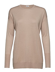Silky Fine Knit Sweater - LIGHT TAUP