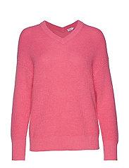 Alpaca V-Neck Sweater - WATERLILY