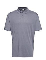 M. Tencel Poloshirt - BLUESTONE