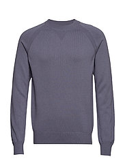 M. Cotton Cashmere Knitted Swe - BLUESTONE
