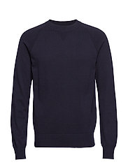 M. Cotton Cashmere Knitted Swe - NAVY