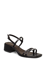 Tessa Mid Heel Sandal - BLACK