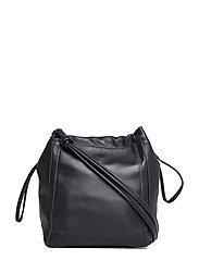 Lena Soft Bucket Bag - BLACK