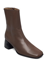 Eileen Leather Boot - GREY TAUPE