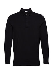 M. Luke Lycra Polo Shirt - BLACK