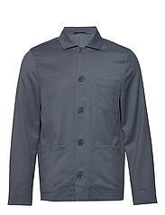 M. Louis Gabardine Jacket - BLUE GREY