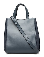 Filippa K Shelby Mini Bucket Leather Bag - BLUE SLATE