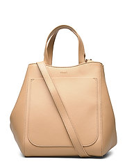 Shelby Mini Bucket Leather Bag - HONEY BEIG