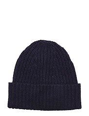 Elisa Recycled Cashmere Beanie - NAVY