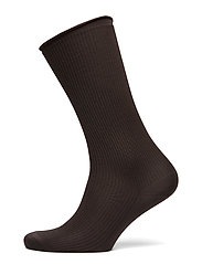 Silk Rib Sock - DARK OAK