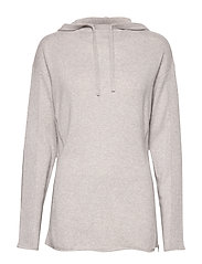 Layer Cashmere Hoodie - PEARL GREY