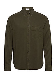 M. Zachary Tencel Shirt - PINE GREEN