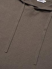 Filippa K - M. Arthur Knitted Hoodie - hoodies - dark taupe - 2