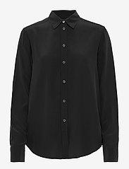Filippa K - Classic Silk Shirt - dugim rękawem - black - 0