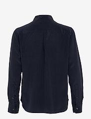 Filippa K - Classic Silk Shirt - långärmade skjortor - navy - 1