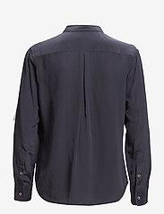 Filippa K - Classic Silk Shirt - långärmade skjortor - navy - 3