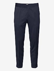 TERRY CROPPED TROUSER - DARK BLUE