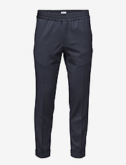 TERRY CROPPED TROUSER - NAVY
