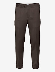 TERRY CROPPED TROUSER - TAUPE