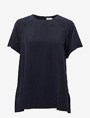 Filippa K - Trapeze Tunic - short-sleeved blouses - navy - 0
