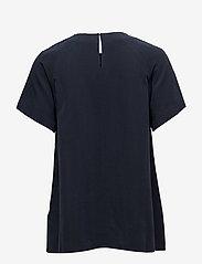 Filippa K - Trapeze Tunic - short-sleeved blouses - navy - 1