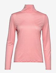 Filippa K - Tencel Polo Neck Top - langærmede toppe - taffy pink - 0