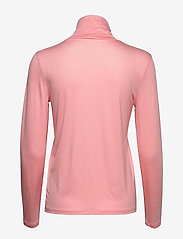 Filippa K - Tencel Polo Neck Top - langærmede toppe - taffy pink - 1