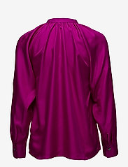 Filippa K - Gathered Silk Blouse - blouses à manches longues - orchid - 1