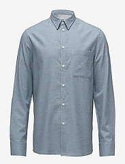 Filippa K - M. Heath Tweed Shirt - chemises basiques - aquatic me - 0