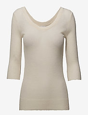Filippa K - Sheer Merino Knit Top - long-sleeved tops - canvas - 0