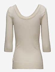 Filippa K - Sheer Merino Knit Top - long-sleeved tops - canvas - 1