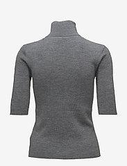 Filippa K - Merino Elbow Sleeve Top - turtlenecks - mid grey m - 1