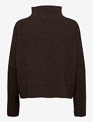 Filippa K - Mika Yak Funnelneck Sweater - turtlenecks - dark taupe - 1