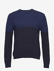 Filippa K - M. Wool Colour Block Sweater - pulls col rond - blue/navy - 0